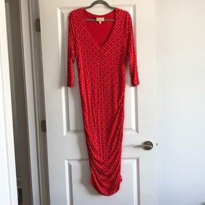 Anthropologie Dresses - Red Anthropologie midi dress